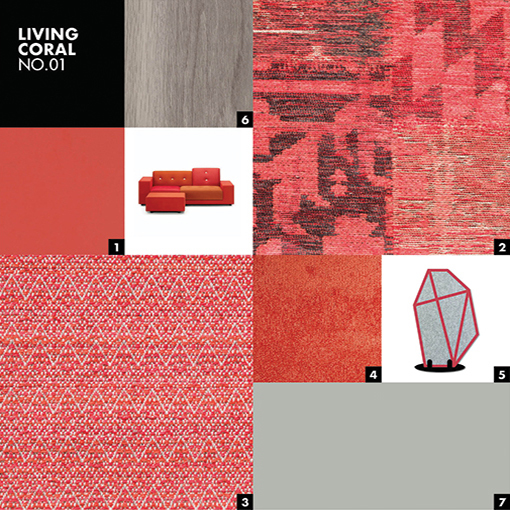 LIVING CORAL NO.01 - Color mood palet